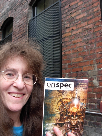 Kim Goldberg is still one step ahead of the law somewhere on Vancouver Island. Her speculative tales have been busting out in Zahir, Here Be Monsters, Dark Mountain, Rattle, Tesseracts Eleven, Urban Green Man Anthology , West Coast Line and elsewhere. In 2008 she won the Rannu Fund Poetry Prize for Speculative Literature. She is currently writing her seventh book, a nonfiction work ( Refugium ) about people living with Electromagnetic Hypersensitivity. She curates an International Online Gallery of Electro-Aware Art here: http://electroplague.com/electro-aware-artists/ . Her primary website is www.PigSquashPress.com .