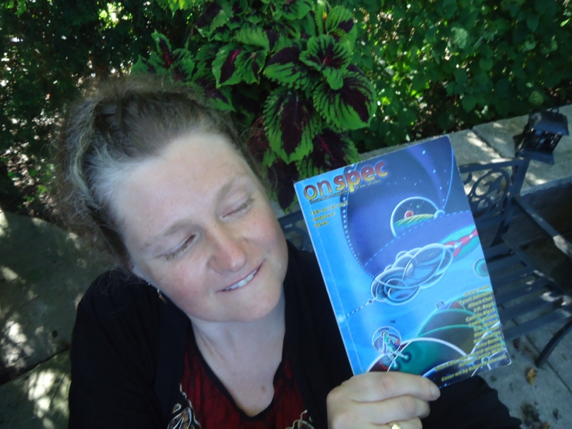"""Lynn Dana Wilton, here.  I was honoured to be a recent contributor with my story, """"Meet"""" in issue #93 (Summer 2013). I'm currently focused on animation: an experimental short in September's Ottawa International Animation Festival; an earlier piece in the Western Michigan University's """"17 Days"""" art installation project then off to a Mauritius festival; and submitting a new short to festivals. I continue to labour on a first novel and try not to compare it to beating my head with a brick. You can find """"Celestial Red & Blue"""" (animated under a macro lens) at: http://vimeo.com/73987641 and """"Robot Monster Us"""" (silhoette puppets & sand) at:  http://vimeo.com/95484619"""